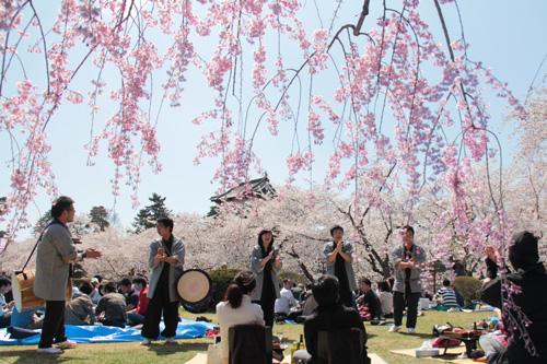 手ぶらで観桜会 演奏の様子
