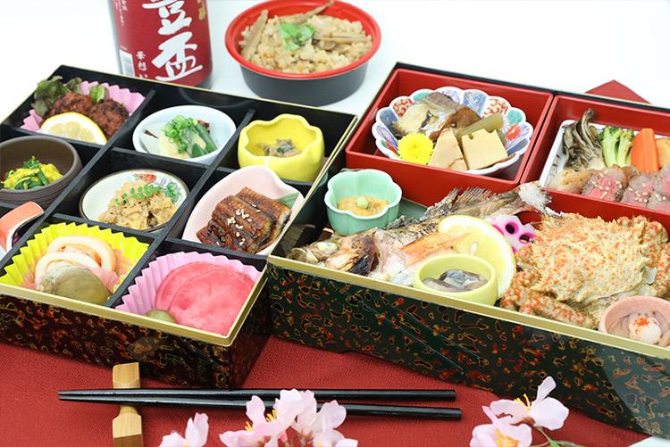 手ぶらで観桜会 極みコースのお弁当